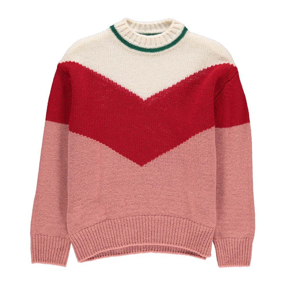 Jersey Lana Tricolor Rosa Marni Moda Joven , Infantil