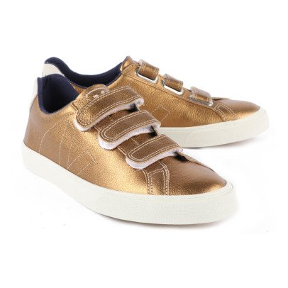 Veja 3 Lock Velcro Leather Trainers-listing