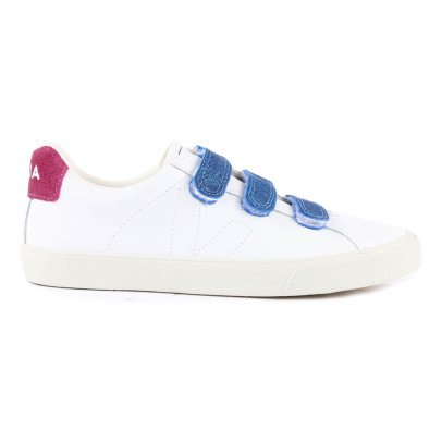 Veja 3 Lock Tricolour Velcro Leather Trainers-listing