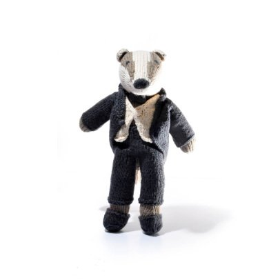 Smallable Toys Crochet Raccoon Soft Toy With Suit-listing