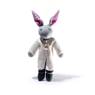 Smallable Toys Crochet Rabbit Soft Toy With Coat-listing