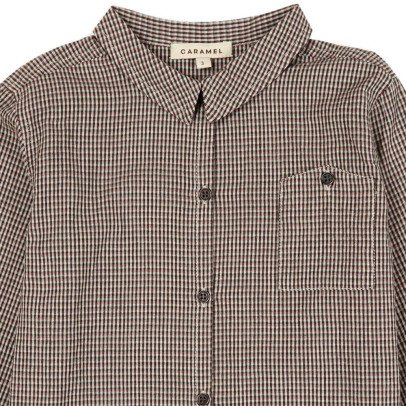Caramel Dover Micro Checked Shirt-listing