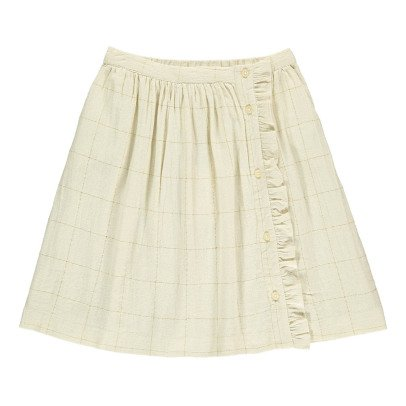 Polder Girl Cosy Lurex Checked Skirt-listing