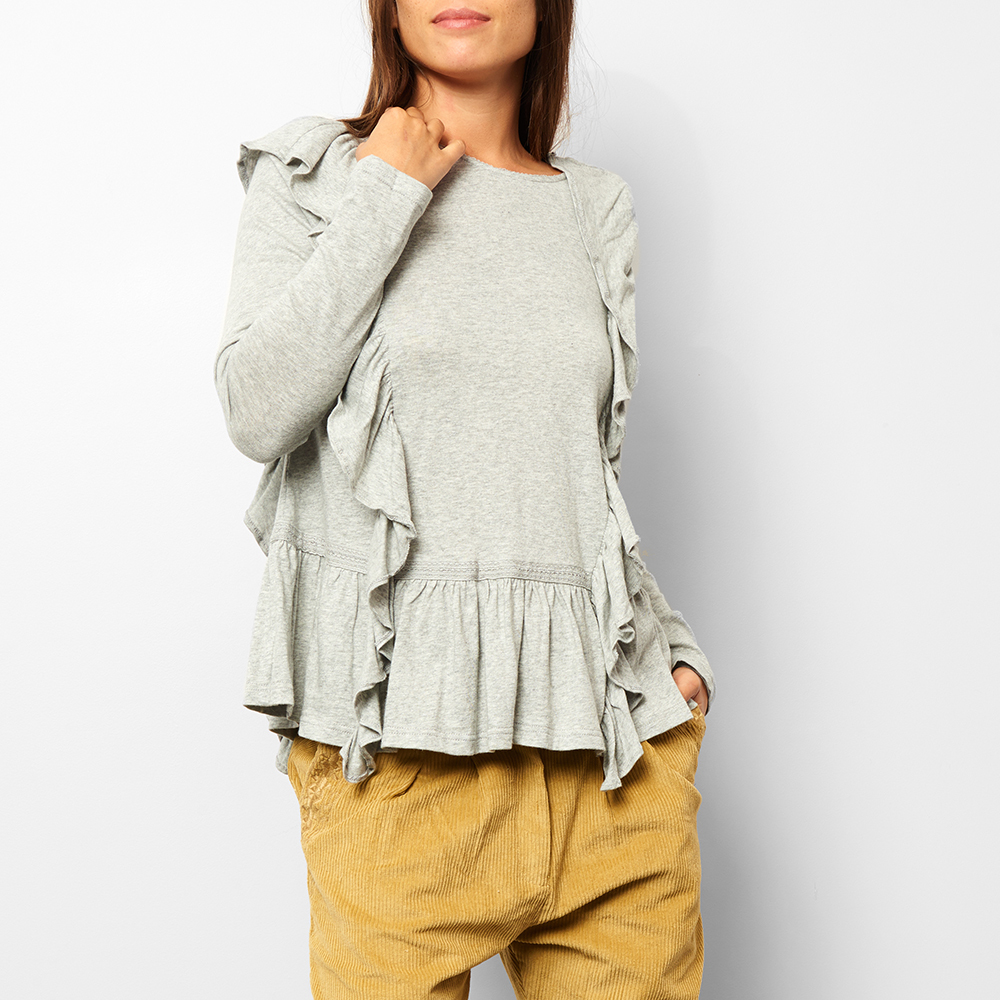 Dolores Ruffled Linen & Cotton Blouse - Teen & Women's Collection-product