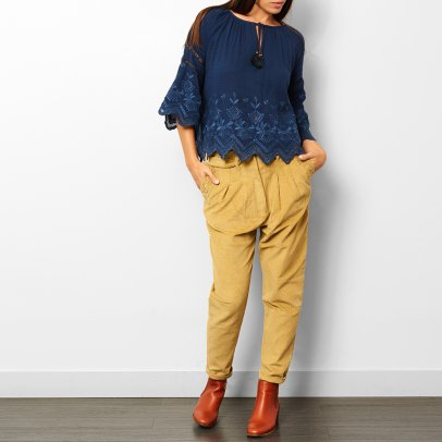 Louise Misha Ortholia Embroidered Blouse - Teen & Women's Collection-listing