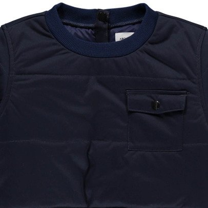 ARCH & LINE Combi Pocket Quilted Sweatshirt-listing