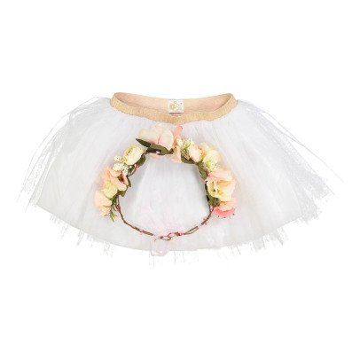 Obi Obi Flower Crown and Mesh Tutu Dressing Up Set-listing