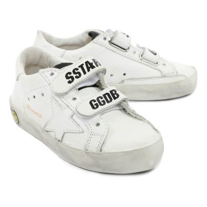 Golden Goose Old School Leather Velcro Trainers-listing