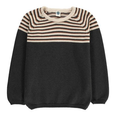 Le Petit Germain Miro Striped Cotton & Merino Wool Jumper-listing