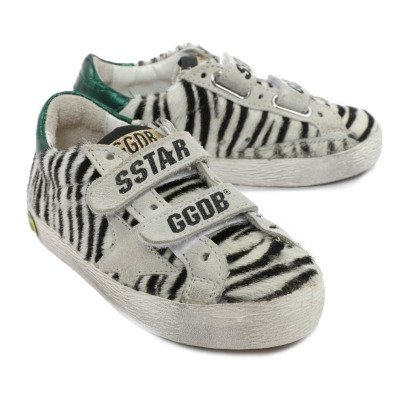 Golden Goose Old School Leather Zebra Trainers-listing