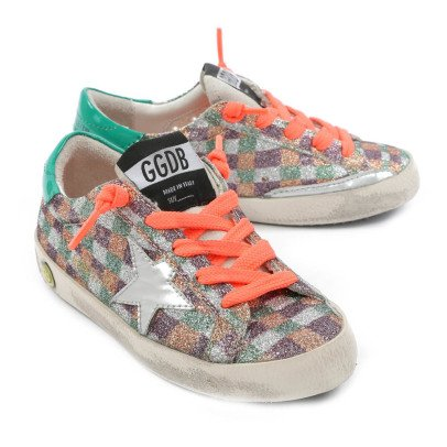 Golden Goose Checked Glitter Trainers-listing