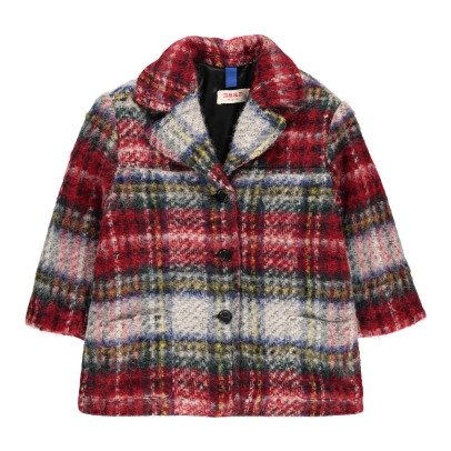 MAAN Tracy Checked Wool, Alpaxa & Mohair Coat-listing