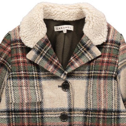 Caramel Codnor Wool Checked Coat-listing