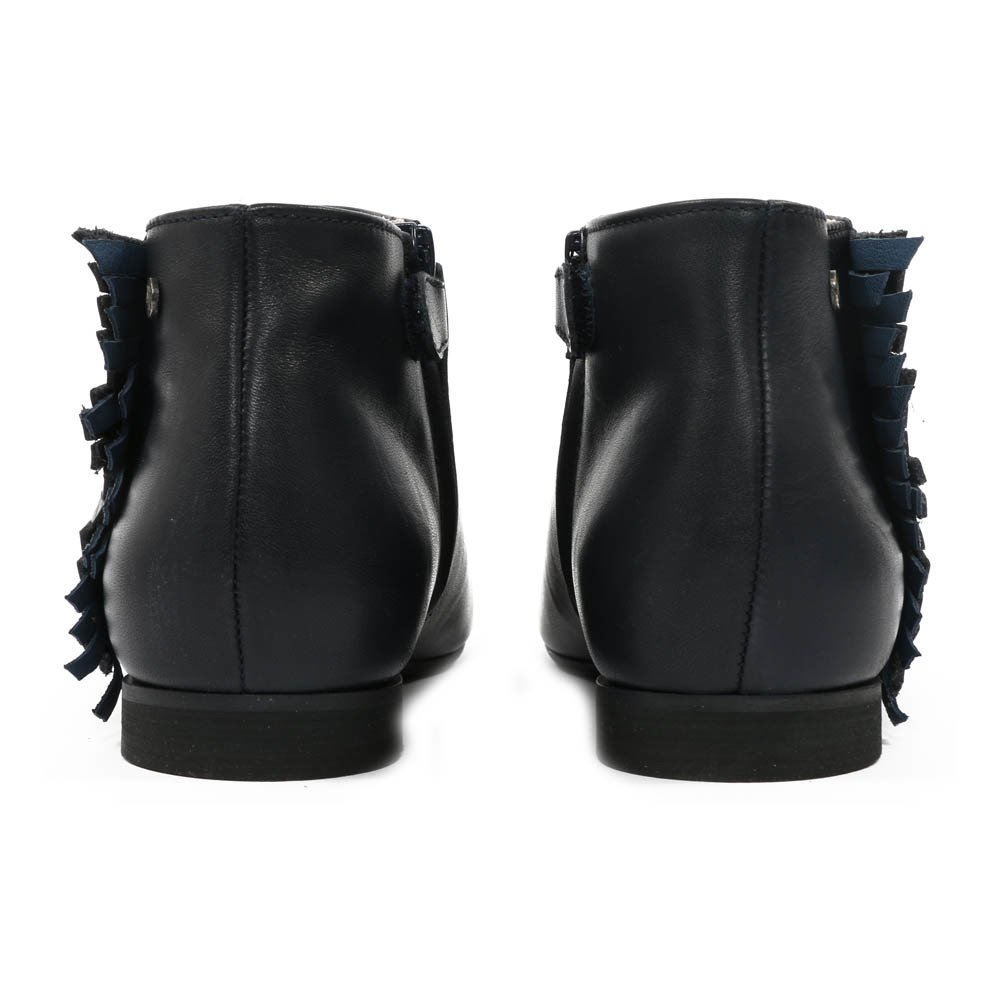Ingrid Leather Fringed Ankle Boots-product