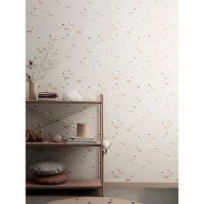 papier peint nuages de coton vert d 39 eau bartsch design enfant. Black Bedroom Furniture Sets. Home Design Ideas