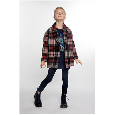 ANNE KURRIS Polar Checked Wool Coat-listing