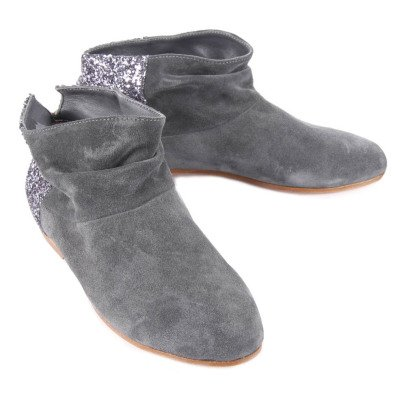 Anniel Suede Glitter-Back Rivala Ankle Boots-listing