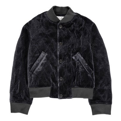 EAST END HIGHLANDERS Velvet Quilted Bomber Jacket-listing