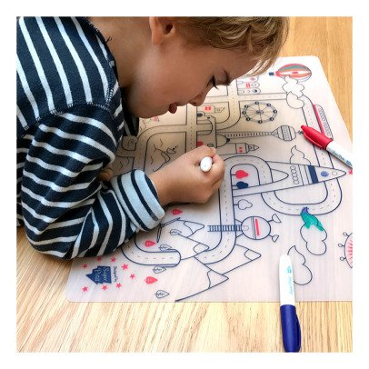 Superpetit Table Colouring Set with 5 Pens and City Adventure Bracelet-listing