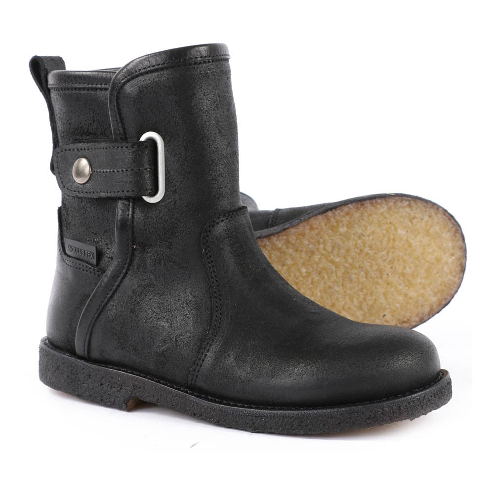 Fur Lined Velcro Leather Ankle Boots-product