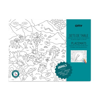 Omy Animals Colouring Table Set-listing