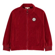product-Hundred Pieces Le Club  Velvet Zip-Up Sweatshirt