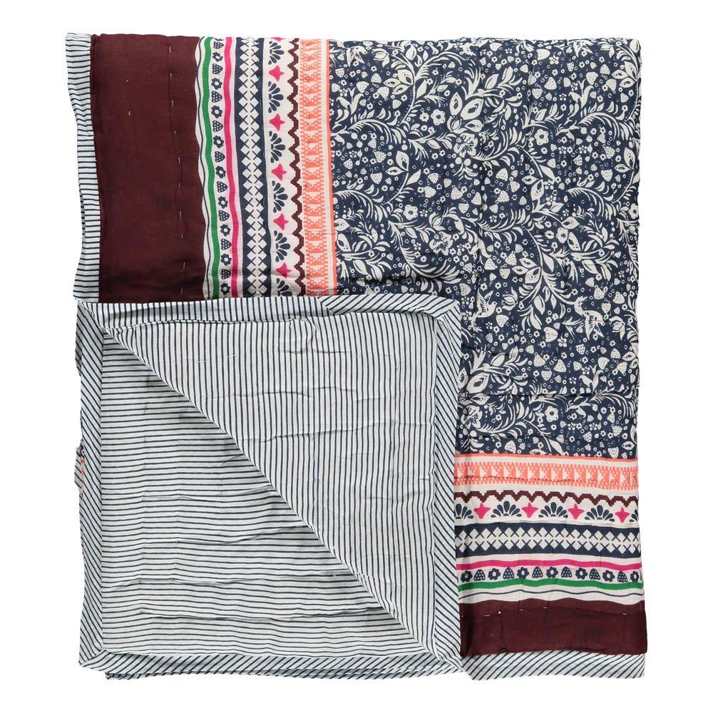 Le Decke zweiseitige decke sarong blau le petit lucas du tertre design