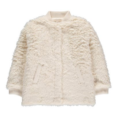 Hundred Pieces Faux Fur Bomber Jacket-listing