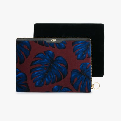 Wouf Leaf Velvet iPad Pouch-listing