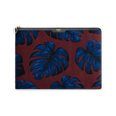"Wouf Leaf Velvet 13"" Computer Pouch-listing"