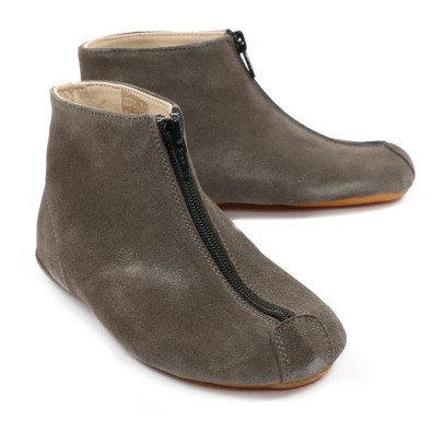 Gallucci Suede Zip-Up Slippers-listing