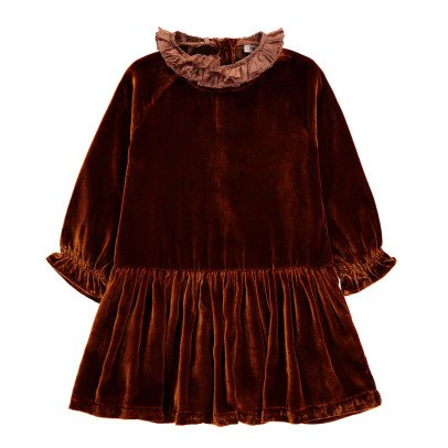 Caramel Lewes Velvet Dress-listing
