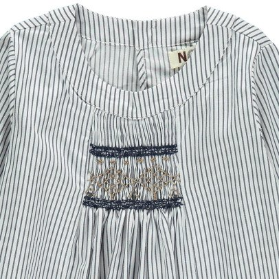 Noro Rosemary Striped Smock Blouse-listing