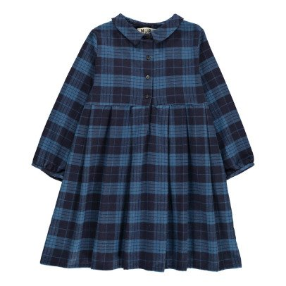 Noro Jeanne Checked Shirt Dress-listing