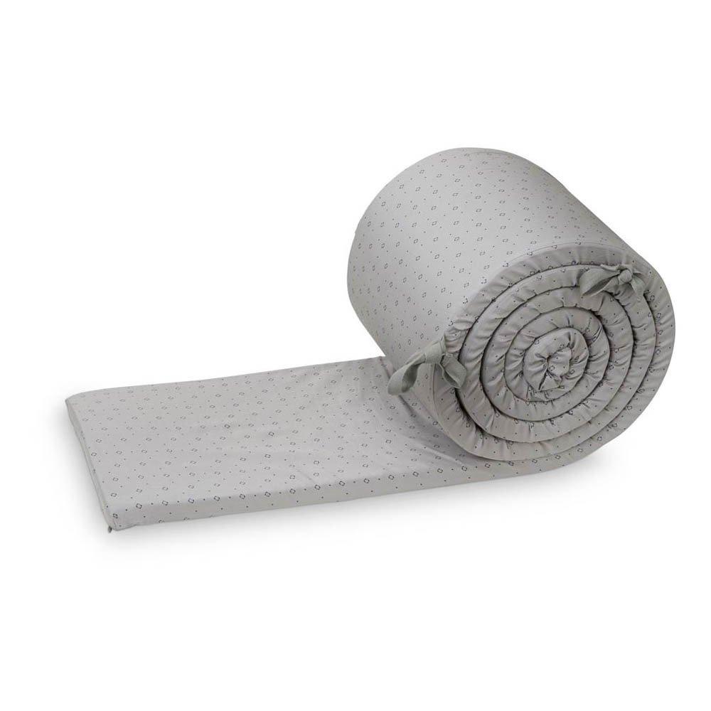 tour de lit complet luca en coton organique gris cam cam design. Black Bedroom Furniture Sets. Home Design Ideas