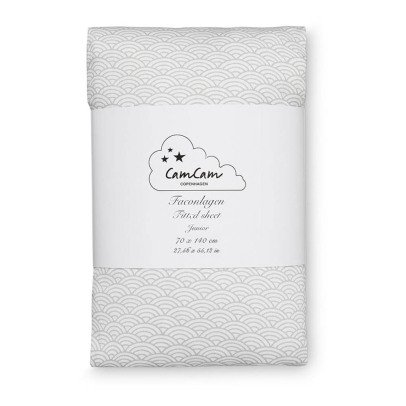Cam Cam Waves Organic Cotton Fitted Sheet-product