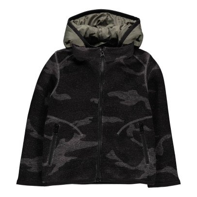 ARCH & LINE Fleece Parka With Removable Collar-listing