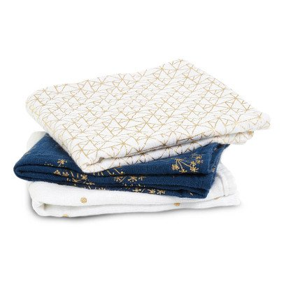 aden + anais  Metallic Swaddling Blanket 70x70cm - Pack of 3-listing