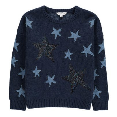 Little Marc Jacobs Sequin & Lurex Detail Star Knit Jumper-listing