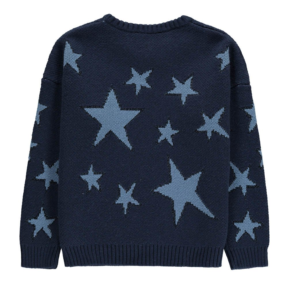 Sequin & Lurex Detail Star Knit Jumper-product