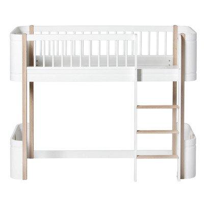 oliver furniture mini mid height mezzanine bed 68x162cm product - Oliver Furniture Hochbett