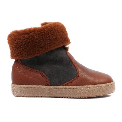 Pèpè Sheepskin Lined Two-Tone Trainers-listing