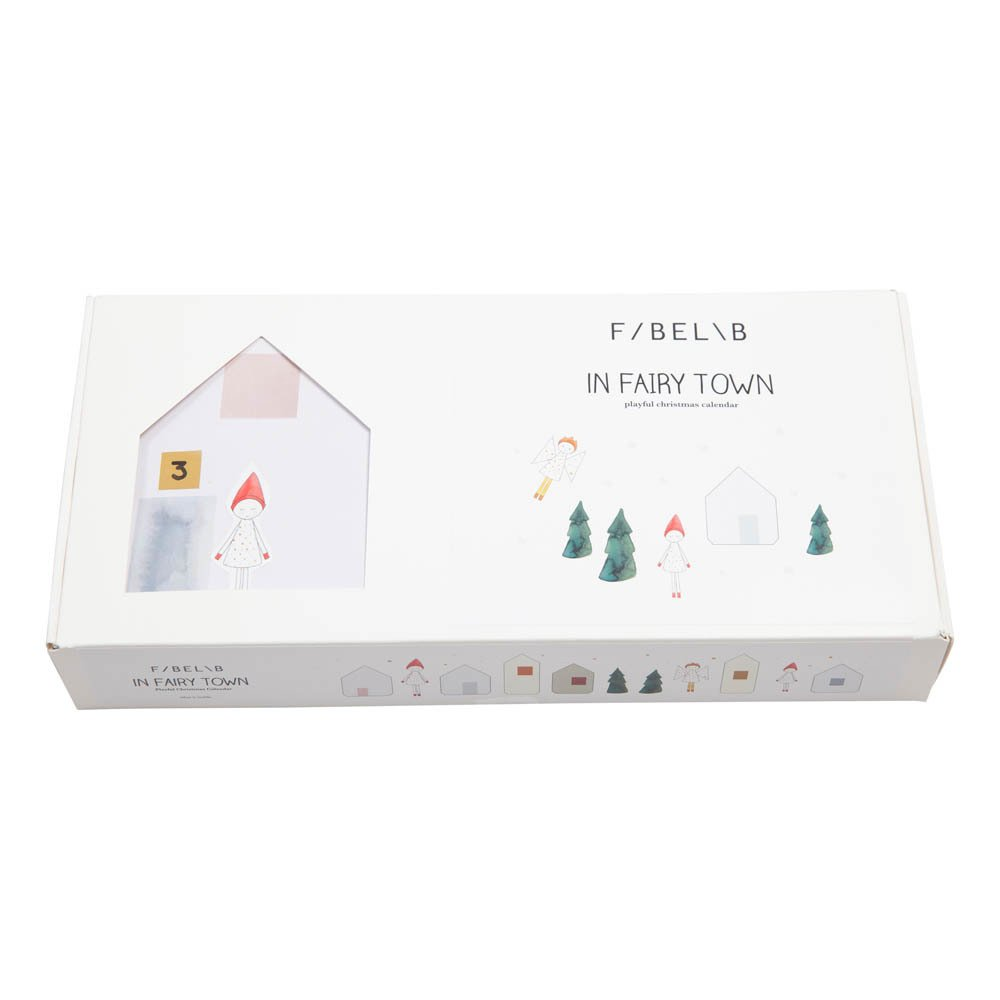 "Calendario dell'avvento in carta ""Fairy Town""-product"
