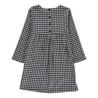 Nui Suze Organic Cotton Gingham Flannel Dress-listing