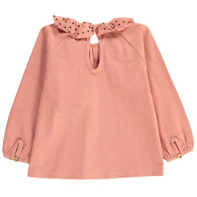 Soft Gallery Organic Cotton Ruffled Collar Artist Top-listing