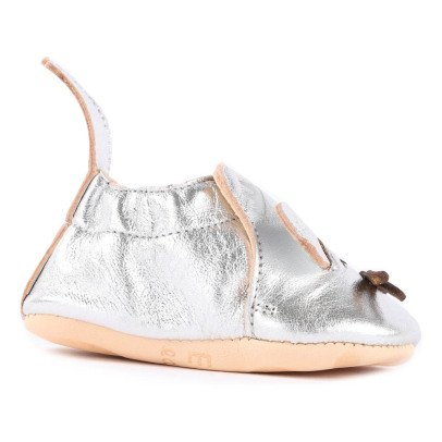 Easy Peasy Blumoo Mouse Metallic Leather Slippers-listing
