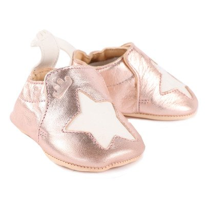 Easy Peasy Blumoo Star Metallic Leather Slippers-listing