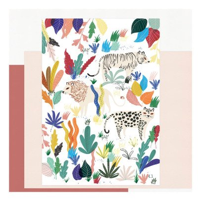 Charlotte Janvier Affiche Jungle A3-product