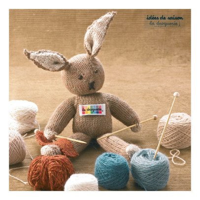 Idées de Saison by La Droguerie Knitting Soft Rabbit Toy-listing