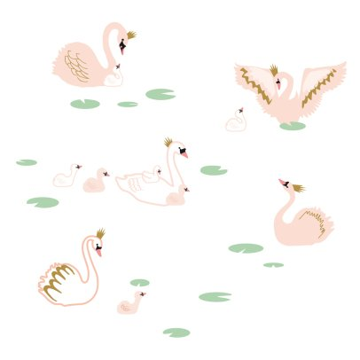 MIMI'lou Swan Lake Sticker-listing